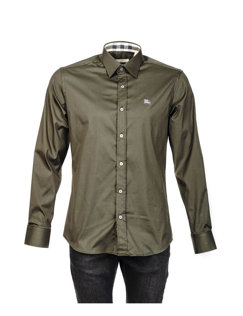 Camisa Slim Fit Burberry Brit - Olive green