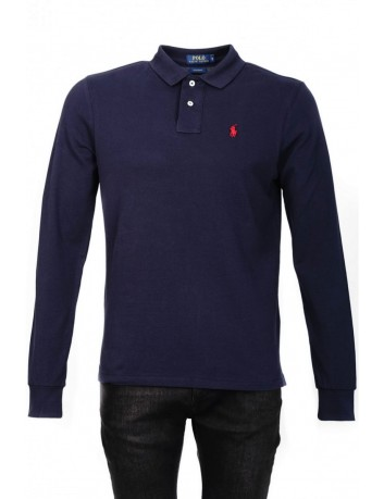 Polo Ralph lauren small Pony Manga larga , Navy Bleu