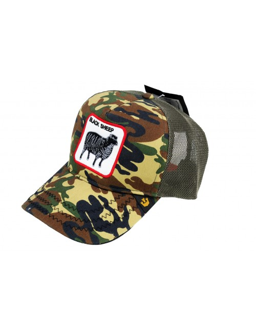 casquette Goorin Brothers Animal Farm Trucker Dark sheep camo