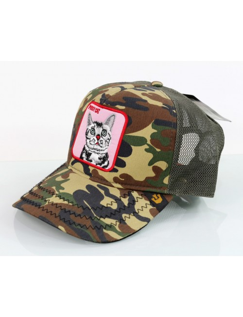 Gorra Goorin Brothers Animal Farm Trucker camuflaje Pink Cat