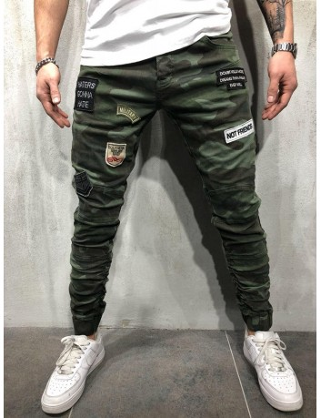 Pantalones elasticos 2Y Men Slim Fit Simple camo