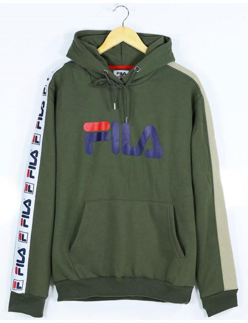 Fila Pocket and Hooded Khaki Sweatshirt