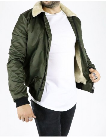 Flight Pilot Bomber Chaqueta Open